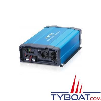 COTEK - Convertisseur SD-1500 pur sinus avec relais de transfert intégré 24 volts 230 volts 1500W TS