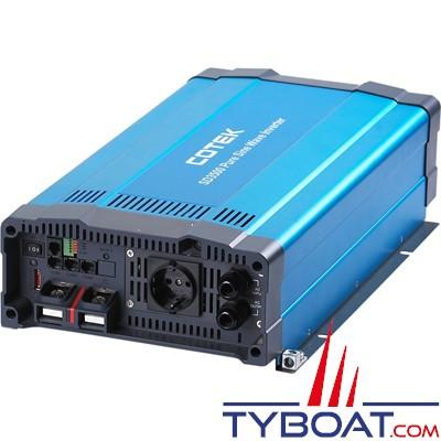 COTEK - Convertisseur série SD pur sinus avec relais de transfert intégré 24 volts 230 volts 3500 Watts