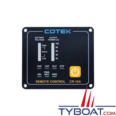 COTEK - Panneau de commande à distance CR-16A 12/24V pour convertisseur SP