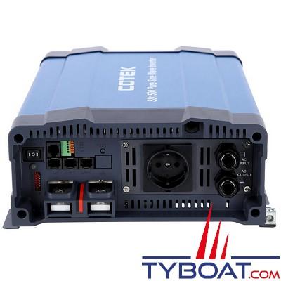 Cotek SD-1500 - Convertisseur 12/230V 1500W avec relais de transfert intégré