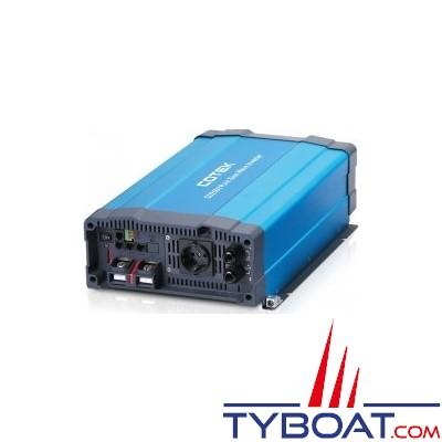 Cotek SD-2500 - Convertisseur série SD pur sinus avec relais de transfert intégré 24 volts 230 volts 2500 Watts