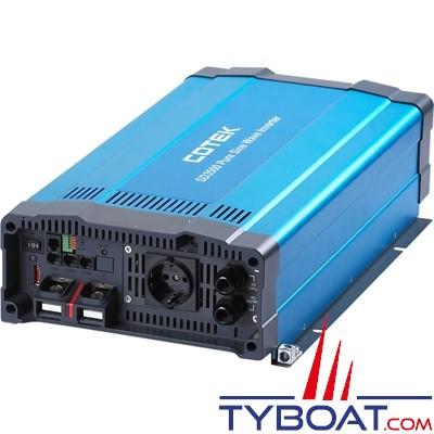 Cotek SD-3500 - Convertisseur pur sinus avec relais de transfert intégré 230 volts 3500 Watts - 24 volts