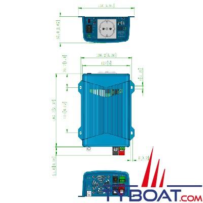 Cotek SE-400-224GE - Convertisseur DC-AC - Prise EU - 600 Watts -24/230 Volts