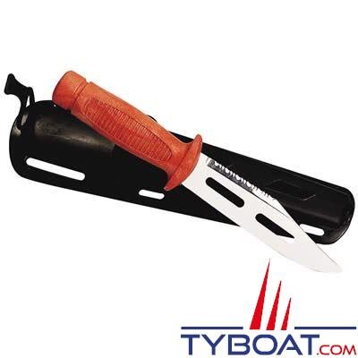 Plastimo - Couteau flottant de pêche cranté 26 cm