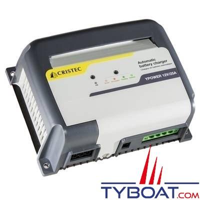 Cristec - Chargeur Automatique Ypower - 12 Volts-25 Ampères 3 sorties