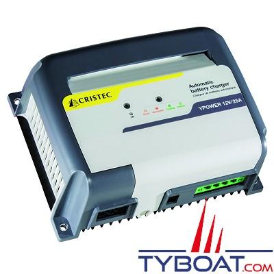 Cristec - Chargeur de batterie YPOWER - 12 volts - 25 ampères