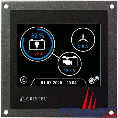 CRISTEC - Moniteur jauge de batterie numérique BAT-MON