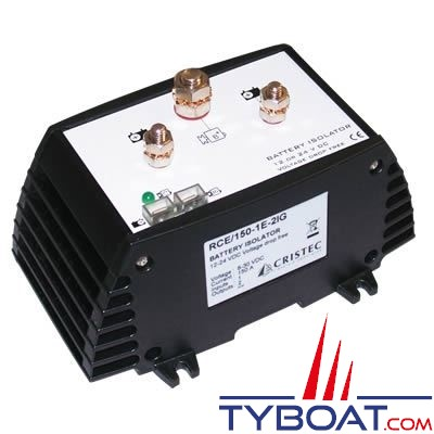 Cristec - Répartiteur de charge électronique RCE 100 - 100 Ampères 1 entrée 2 sorties sans perte