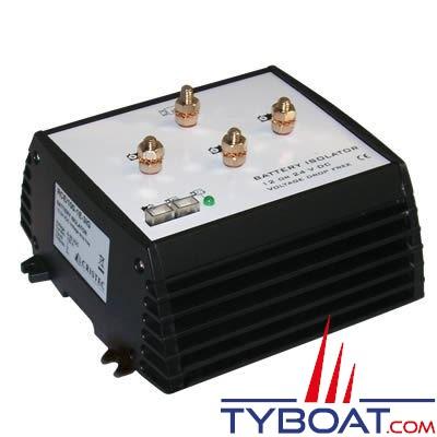 Cristec - Répartiteur de charge électronique RCE 100 - 100 Ampères 1 entrée 3 sorties sans perte