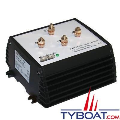 Cristec - Répartiteur de charge électronique RCE 180 Ampères 1 entrée 3 sorties sans perte