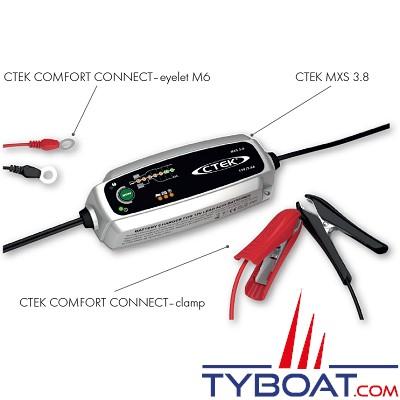 CTEK - Chargeur CTEK MXS 3.8 12 Volts  - 0,8 & 3.8Ampères (sans bouton mode)