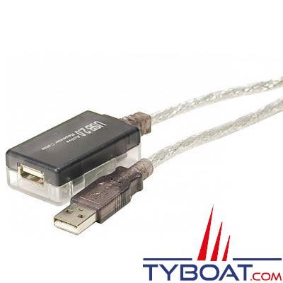 Câble rallonge USB 2.0 avec répétiteur actif longueur 12 mètres