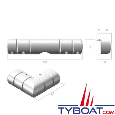 Dan Fender - Défense de ponton Large Multi Dock Fender - 900 x 450 x 181 mm