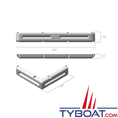 Dan Fender - Défense de ponton MiniMulti Dock Fender - 950 x 520 x 120 mm
