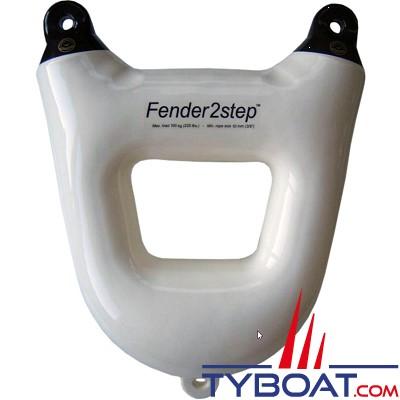 Dan Fender - Pare-battage deux marches -  450 x 560 x 180 mm - Blanc oeil noir