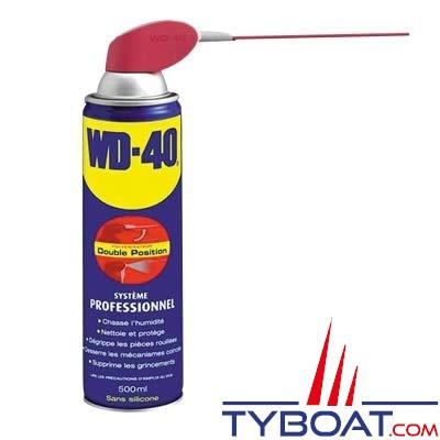 Dégrippant et lubrifiant WD40 pulvérisateur multi-positions 500 ml