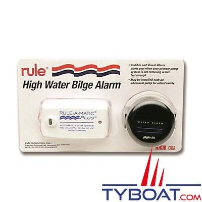 Détecteur de voie d'eau Rule sonore et visuelle 12V