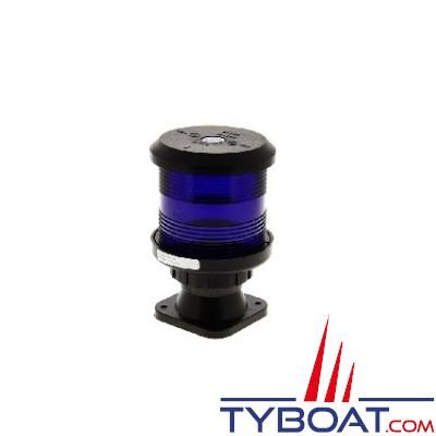 DHR - Feu de navigation série 35 - Fixation sur base V - Tout horizon Signalisation bleu - Secteur 360° - Visibilité 2Nm