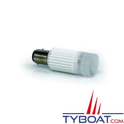 Dixplay - Ampoule à LED BA15S 1 led blanc neutre 8-35 Volts 2 Watts