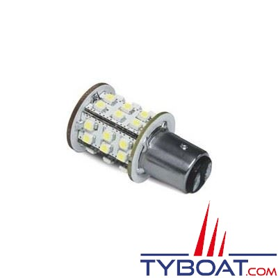Dixplay - Ampoule à LED BAY15D 33 leds blanc chaud 8-35 Volts 3 Watts