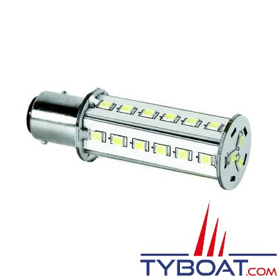 Dixplay - Ampoule à LED BAY15D 33 leds blanc neutre 8-35 Volts 3 Watts
