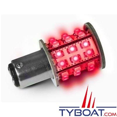 Dixplay - Ampoule à LED BAY15D 33 leds rouge 8-35 Volts 3 Watts