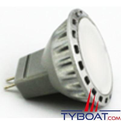 Dixplay - Ampoule à LED MR11 3 leds blanc chaud 8-35 Volts 2 Watts