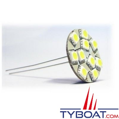 Dixplay - Ampoule G4 12 Leds 8-35 Volts 2 Watts blanc chaud vertical