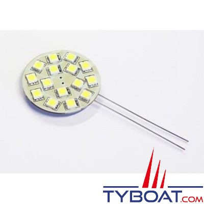 Dixplay - Ampoule G4 21 Leds 8-35 Volts 2,5 Watts blanc froid horizontal