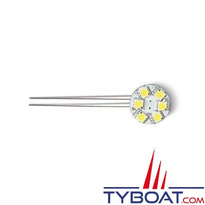 Dixplay - Ampoule G4 9 Leds 8-35 Volts 1,5 Watts blanc chaud horizontal