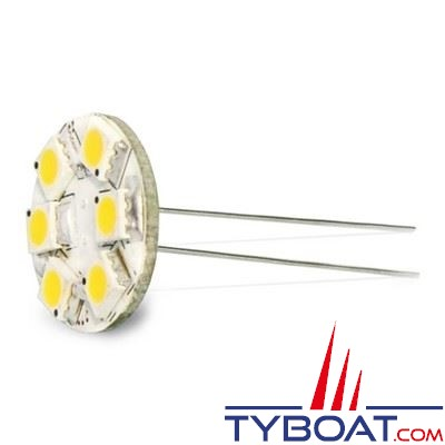 Dixplay - Ampoule G4 9 Leds 8-35 Volts 1,5 Watts blanc froid vertical