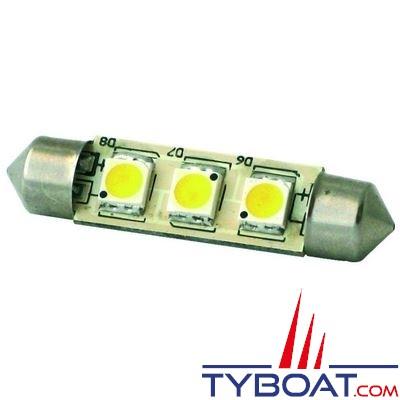 Dixplay - Dixplay - Ampoule SV8.5 3 Leds 42 mm 8-35 Volts 1 Watt blanc neutre