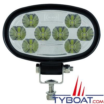 Dixplay- Projecteur de pont  ovale 8 leds - 24 watts - 12-24 volts