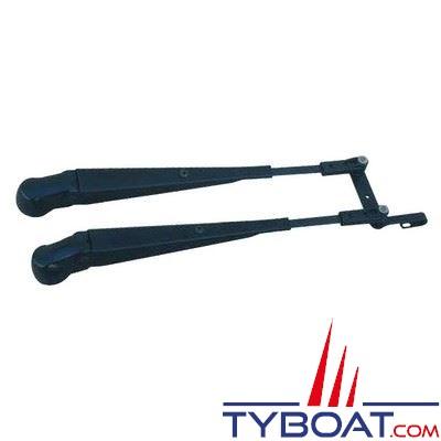 DOGA - Porte-raclette pantographe longueur 430-500 mm modèle 316 noir droit