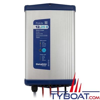 Dolphin - Chargeur de batterie Pro Lite 12 Volts 25 Ampères 3 sorties - 115/230 Volts - IP65 - Bluetooth