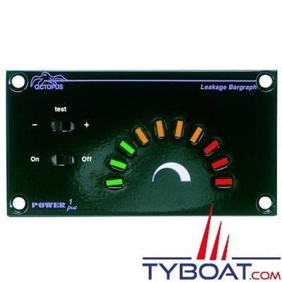 Testeur de fuite électronique OCTOPUS LEAKAGE BARGRAPH PF3-LEAK pour bateau métallique 12/24V