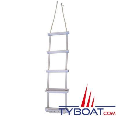 echelle pliable imnasa plastique blanc largeur 300 x hauteur 1000 mm 5 chelons imnasa 40250595. Black Bedroom Furniture Sets. Home Design Ideas