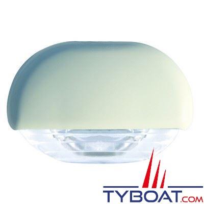 Eclairage de courtoisie à Leds Hella Marine Easy Fit 12/24V lumière blanche corps blanc - IP67