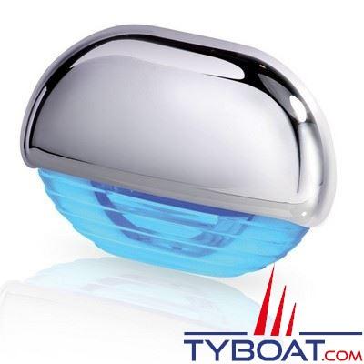 Eclairage de courtoisie à Leds Hella Marine Easy Fit 12/24V lumière bleue corps chromé - IP67