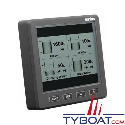 Écran graphique Vetus SENSORD pour capteur de niveaux à ultrasons SENSORB système BUS