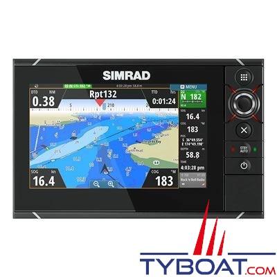 Simrad - Multifonctions NSS  7 Evo2 tactile multitouche avec GPS et sondeurs CHIRP et StructureScan HD intégrés