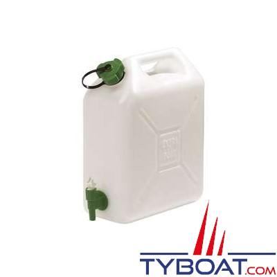 Reservoir eau potable extra fort bouchon simple + robinet 20L