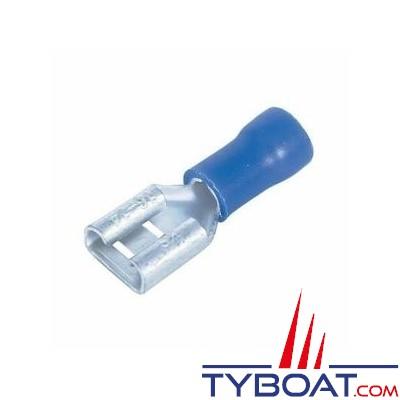 Elematic - Cosse femelle plate bleue - Câble 1,2 à 2,6 mm² - 6,3 mm - (100 pièces)