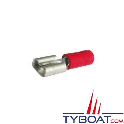 Elematic - Cosse femelle plate jaune -  Câble 2,5 à 6 mm² - 6,3 mm - (100 pièces)