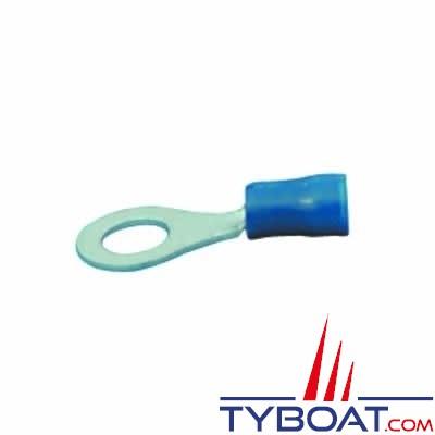 Elematic - Cosse ronde bleue - Câble 1,2 à 2,6 mm² - Trou M4 - (20 pièces)