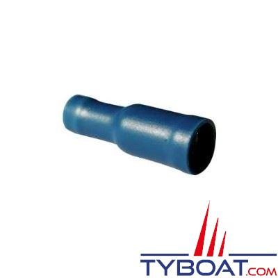 Elematic - Cosse ronde bleue femelle - Câble 1,2 à 2,6 mm² - Trou M5 - (50 pièces)
