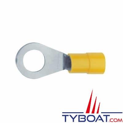 Elematic - Cosse ronde - Jaune - Câble 2,5 à 6 mm² - Trou  M5 - (20 pièces)