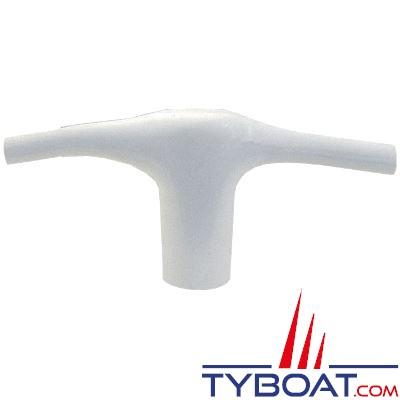 Embout de barre de flèche Plastimo PVC blanc pour hauban Ø 19mm flèche ronde ou chandelier Ø 53mm (x2 pièces)