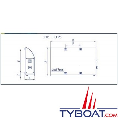 Enag - Radiateur Electrique Marine - Rael 220-1000 - 230 Volts Courant Alternatif - 1000 Watts