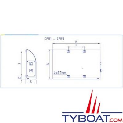 Enag - Radiateur Electrique Marine - Rael 220-500 TH - 230 Volts Courant Alternatif - 500 Watts